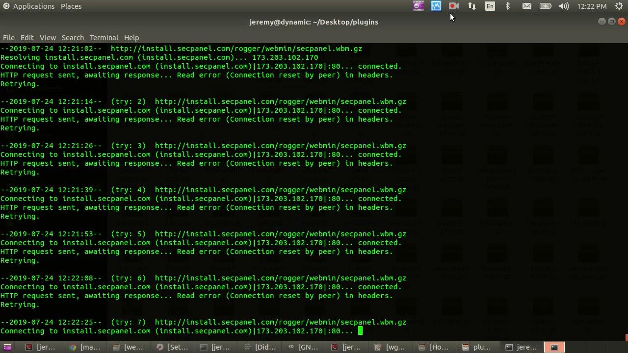 Recursive Wget All Webmin Modules