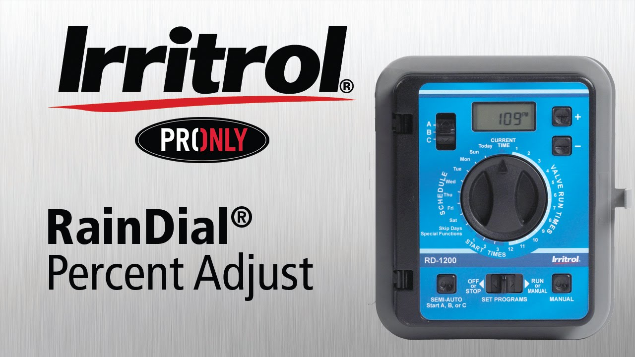 How to Change Percent Adjust on the Irritrol RainDial Controller