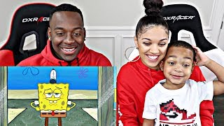 SPONGEBOB IN THE HOOD REACTION | THE PRINCE FAMILY