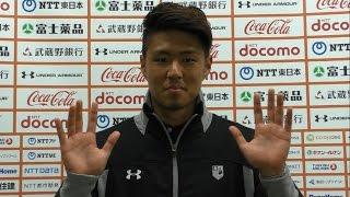 本日の鹿島戦で復帰を果たした清水 慎太郎選手からウイニングメッセージ...