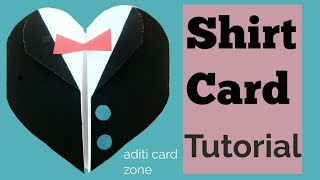 Easy shirt card tutorial | Friendship Day Card | Diy scrapbook |