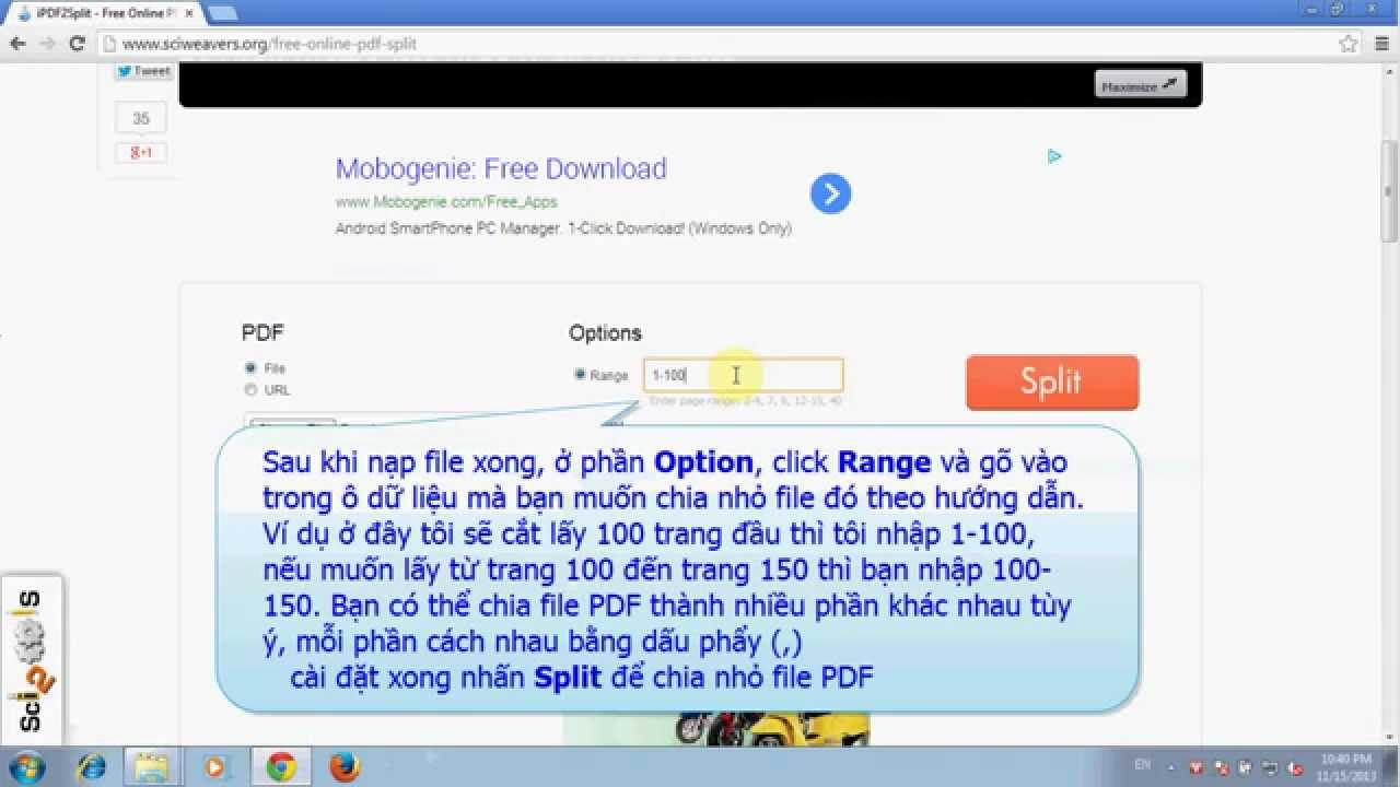 Hướng dẫn cắt (chia nhỏ) file PDF miễn phí