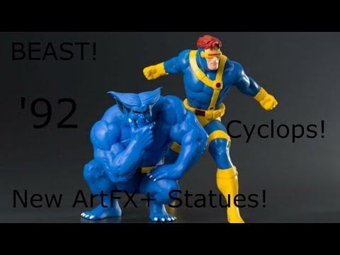 New Kotobukiya X-Men '92 ArtFX+ Cyclops & Beast Statues!