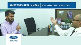 what they really mean   boss employee honest dub   ford
