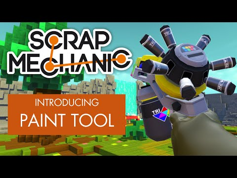 Scrap Mechanic - Introducing the Paint Tool