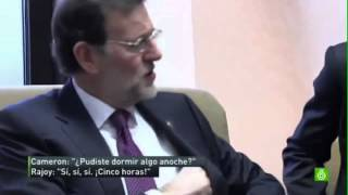 Rajoy hablando inglés / its very dificult todo eshto