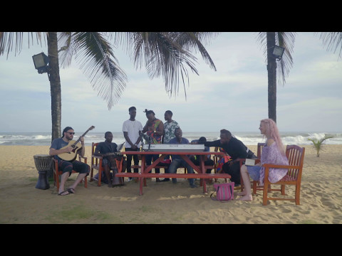 Joss Stone in Liberia doing a collaboration with a a group of local musicians .#JSTWT