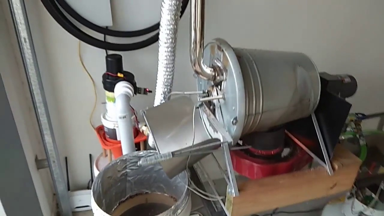 Home coffee roasting using DIY home built coffee roaster (Ikea Colander as  drum)