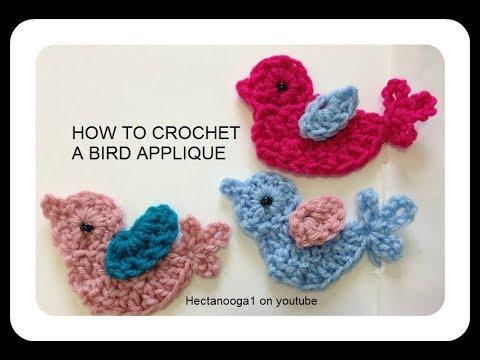 Bird Applique Crochet Pattern
