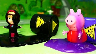 Мультики для детей с игрушками Маша и Пеппа Противная слизь. Игрушечные мультфильмы смотреть онлайн.