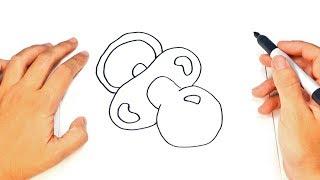 Como dibujar un Chupete paso a paso   Dibujo fácil de Chupete
