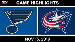 NHL Highlights | Blues vs. Blue Jackets - Nov. 15, 2019