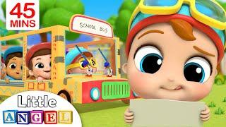 Wheels On The Bus + More | Little Angel Kids Songs & Nursery Rhymes