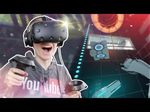 PORTAL IN VIRTUAL REALITY! | Portal Stories: VR (HTC Vive Walkthrough/Gameplay)