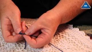 Как связать две нити без узла  при вязании thumbnail