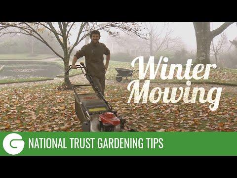 National Trust Gardening Tips: Winter Mowing