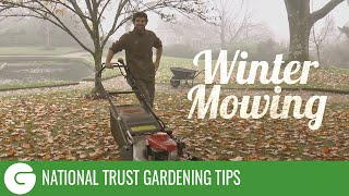 National Trust Gardening Tips: Winter Mowing