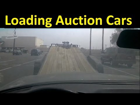 Picking up Auction Cars Transport & Hauling Work Vlog