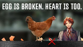 【egg is broken. heart is too.】卵運びのロベ【ホロスターズ/夕刻ロベル】