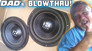 The Old Man's Subwoofer BLOW-Through w/ 4 12