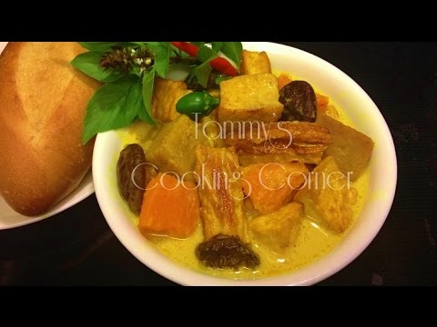 Ca Ri Chay - Vietnamese Vegetarian Curry - Cách nấu Cà Ri Chay