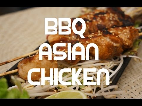 Asian style Chicken Kebabs BBQ Grill Recipe - Super Easy - YouTube