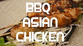 Asian Style Chicken Kebabs Bbq Grill Recipe - Super Easy