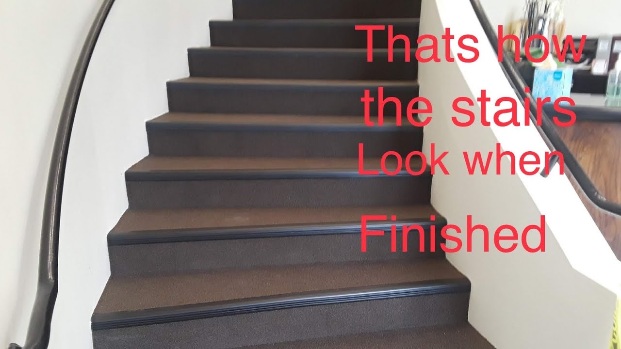 Installation Of Carpet Tile On Stairs Youtube | Carpet Squares For Steps | Kajaria Staircase | Stair Runner | Dean Wrap Around Treads | Communal Stairway | Flower Design