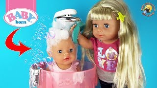 Душевая кабинка БЕБИ БОН Подарки и ТОРТ на ДЕНЬ РОЖДЕНИЯ Видео для детей с куклами Play Baby Doll