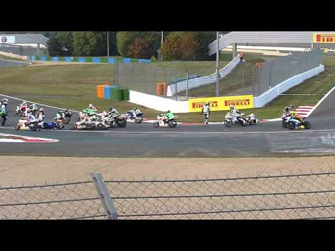 SUPERSTOCK 600 - 2014 MAGNY-COURS CRASH ADELAIDE