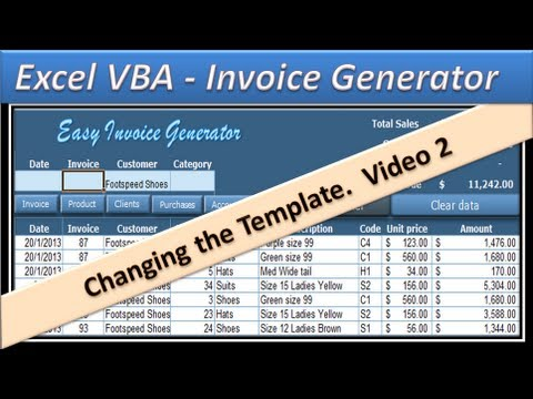 Paychex Eib Invoice Pdf Excel Vba  Invoice Generator  Microsoft Excel   Part   Where Is The Tracking Number On A Ups Receipt Word with Quicken Invoices Word Excel Vba  Invoice Generator  Microsoft Excel   Part  Linux Invoicing Software Excel