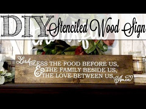 DIY Stenciled Wood Sign Using Chalk Paint