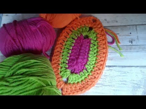Oval Crochet Motif Diagram