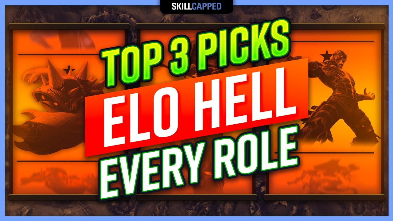 Top 3 Champions For Every Role To Escape Elo Hell Best Picks 10 22 Youtube