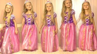 Five Little Babies Jumping on the Bed   Kids Song with Rapunzel