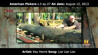 "Ray Harris ""Liar Liar Liar"" in American Pickers - Season 5 ep. 27 - TenVolt Music Placement"
