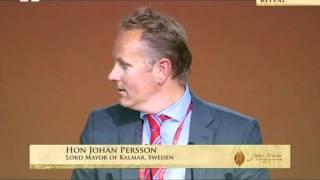 Hon. Johan Persson, Lord Mayor of Kalmar, Sweden at Ahmadiyya Muslim Jalsa UK 2011