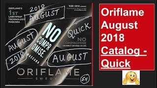 Oriflame August 2018 Catalog - Quick View