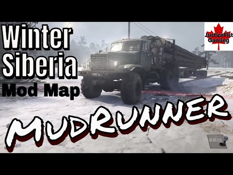 MudRunner Mod Gameplay | Winter Siberia Map Mod