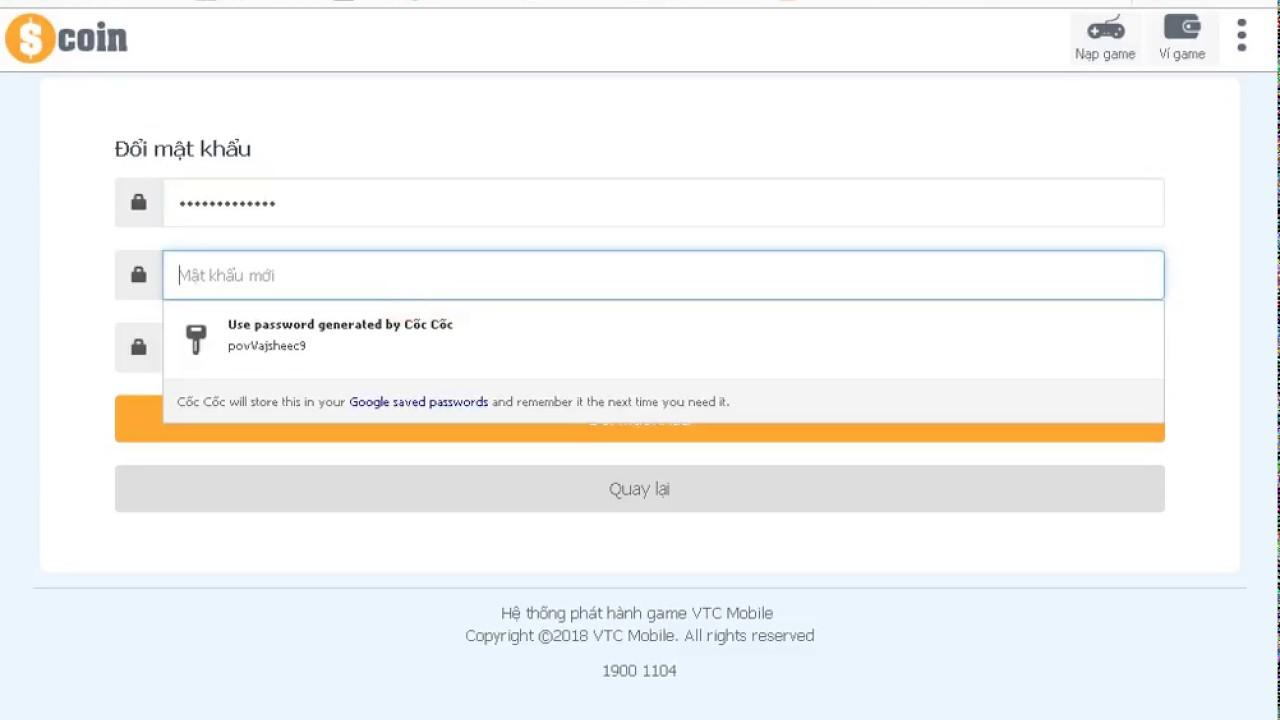 Hướng dẫn tạo tài khoản và đổi mật khẩu Truy Kích nhé!!!
