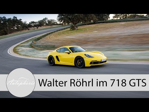 Walter Röhrl im Porsche 718 GTS Cayman auf der Rennstrecke des Ascari Race Resort - Autophorie