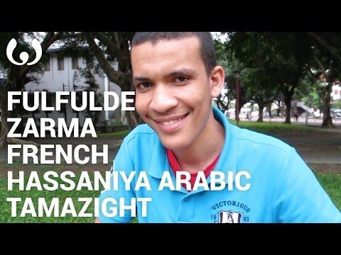 WIKITONGUES: Ibrahim speaking Fulfulde, Zarma, French, Hassaniya Arabic, and Tamazight