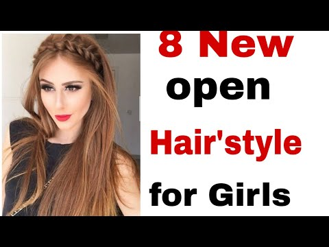 8-beautiful-and-easy-open-hair-hair'style||-new-latest-hair'style-for-girls||easy-new-hair'style