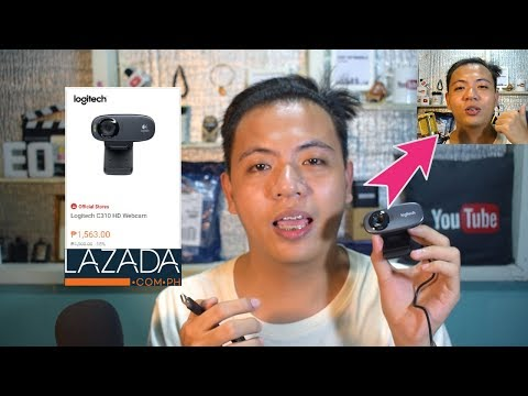 Logitech C310 HD Webcam Video Test Unboxing Review from Lazada