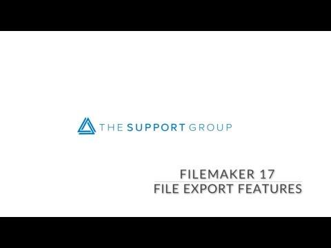 FileMaker  17 File Export Demo
