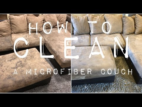CLEAN WITH ME//How to clean a microfiber couch (in less than an hour)//
