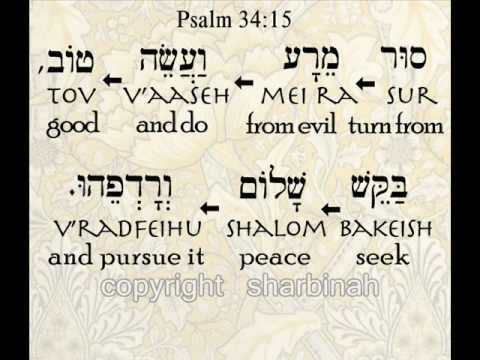 Psalm 34: 13-15 - Speak Truth, Love Life, See Good