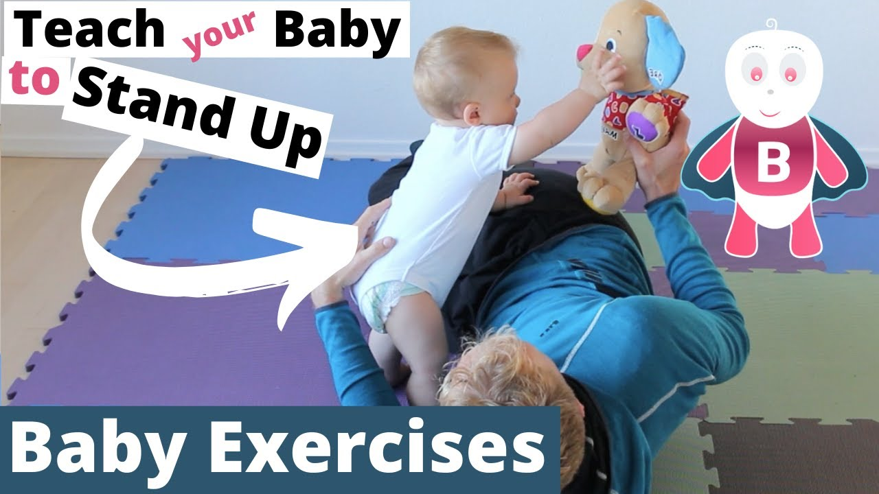 How to teach a child to walk with exercise