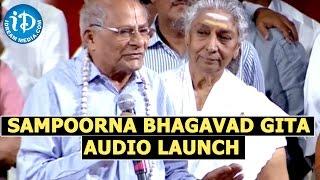 Sampoorna Bhagavad Gita Audio Launch At Shilpakala Vedika In Hyderabad