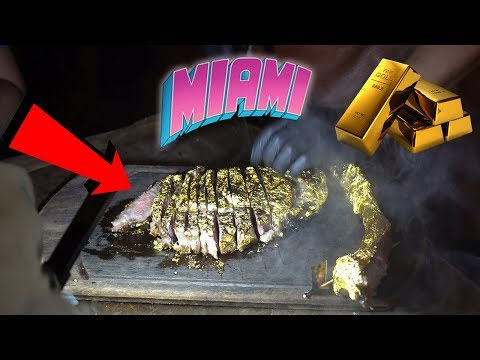 EATING A 24K GOLD STEAK IN MIAMI!!